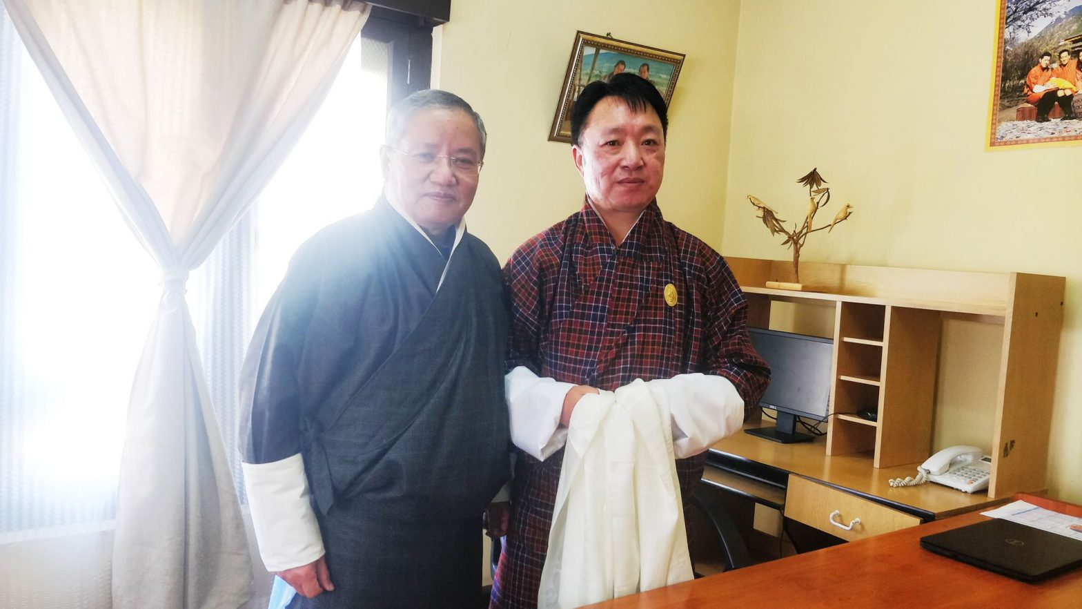 Dr. Rinzin Rinzin with the Chairperson of BTI